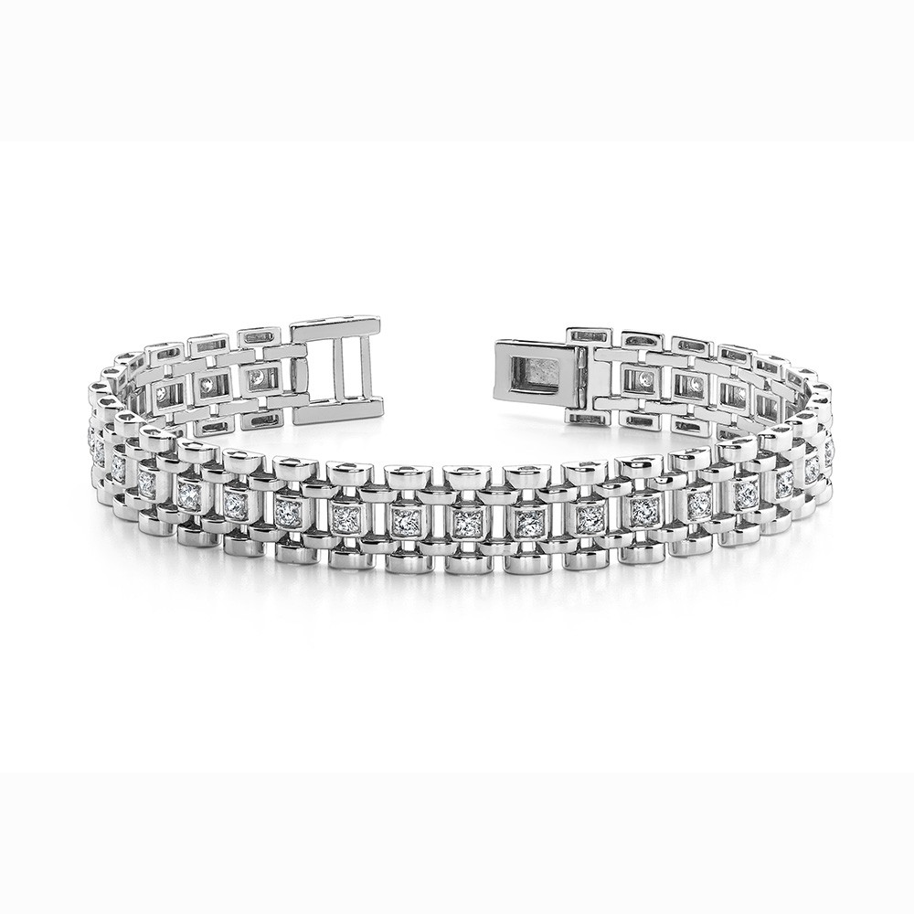 Mens Diamond Link Bracelet