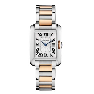 Cartier Watches - Tank Anglaise Stainless Steel and Pink Gold