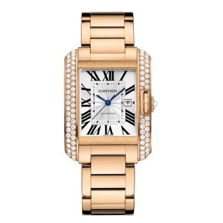 Cartier Watches - Tank Anglaise Pink Gold With Diamonds