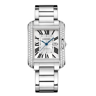 Cartier Watches - Tank Anglaise White Gold With Diamonds