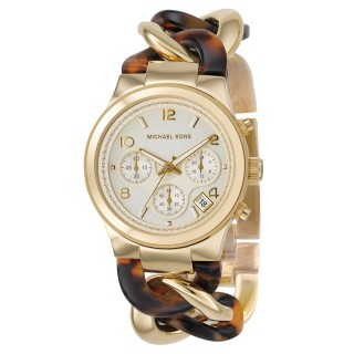 Runway Twist Gold Tone Tortoise Acetate Watch